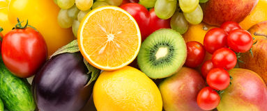 groenten en fruit royalty-vrije stock foto