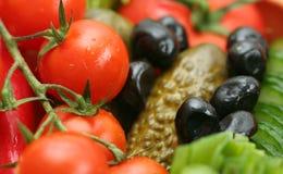 Groenten en groenten in het zuur royalty-vrije stock foto