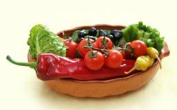 Groenten en groenten in het zuur stock foto's