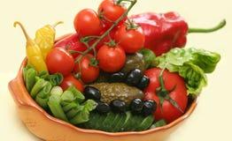 Groenten en groenten in het zuur Royalty-vrije Stock Afbeelding