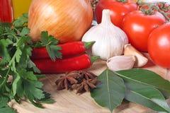 Groenten en kruid stock fotografie