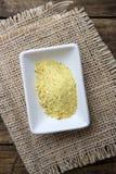 Groenten en kruiden droge specerij in een witte kom stock foto's