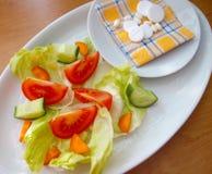 Groenten en pillen Stock Afbeeldingen