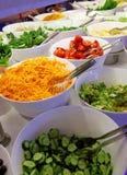 Groenten en salades Royalty-vrije Stock Fotografie