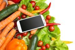 Groenten en Smartphone Royalty-vrije Stock Foto