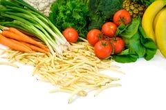 Groenten en Sommige Vruchten stock afbeeldingen