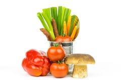 Groenten en tin 4 Stock Afbeelding