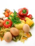 Groenten en vers voedsel Stock Afbeeldingen