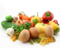 Groenten en vers voedsel Royalty-vrije Stock Afbeeldingen