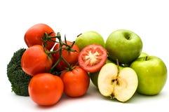 Groenten en vruchten. Royalty-vrije Stock Afbeeldingen