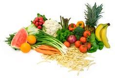 Groenten en Vruchten Stock Afbeelding