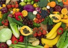 Groenten en Vruchten Royalty-vrije Stock Fotografie