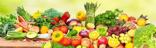 Groenten en Vruchten stock foto's