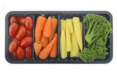 Groenten in geïsoleerde container Stock Fotografie