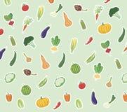 Groenten gekleurde pictogrammen Stock Afbeeldingen