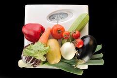Groenten in het saldo Stock Foto