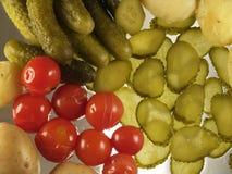 Groenten in het zuur vector illustratie