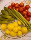 Groenten in het zuur Royalty-vrije Stock Afbeelding