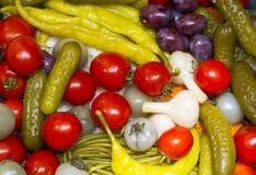 Groenten in het zuur Royalty-vrije Stock Foto