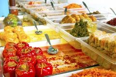 Groenten in het zuur bij markt Royalty-vrije Stock Fotografie