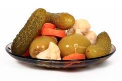 Groenten in het zuur: de winter groenten Stock Foto
