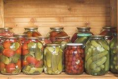 Groenten in het zuur en tomaten Stock Foto