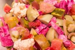 Groenten in het zuursalade Stock Afbeeldingen