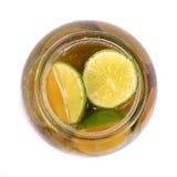 Groenten in het zuursap, honing en citroen Royalty-vrije Stock Foto's