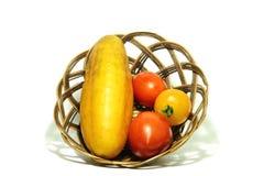 Groenten in mand 3 Stock Fotografie