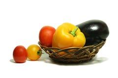 Groenten in mand 15 Stock Foto's