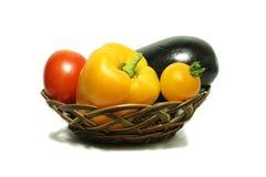 Groenten in mand 2 Stock Afbeeldingen