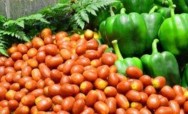 Groenten in markt Royalty-vrije Stock Foto's