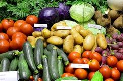 Groenten in markt Stock Foto's