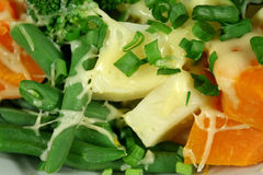 Groenten met Kaas Stock Afbeeldingen