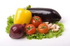 Groenten met ui en knoflook Stock Afbeelding