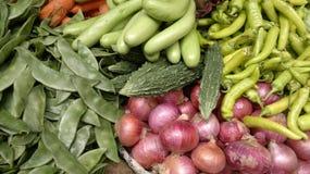 Groenten op de markten Stock Afbeelding