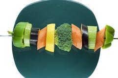 Groenten op een spit Stock Afbeeldingen