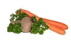 Groenten op een witte achtergrond stock foto's