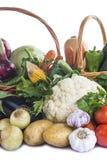 Groenten op een witte achtergrond worden geïsoleerd die Stock Afbeelding