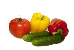 Groenten op witte achtergrond Stock Foto
