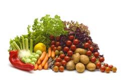 Groenten op witte achtergrond Stock Foto's