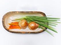 Groenten op witte lijst worden geplaatst die Stock Fotografie