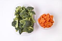 Groenten in Plastic Containers Stock Afbeeldingen