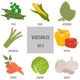 groenten Reeks 4 Royalty-vrije Stock Afbeeldingen