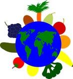 Groenten rond de wereld Royalty-vrije Stock Afbeelding