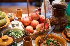 Groenten: snijbonen, wortelen en bloemkolen Stock Afbeeldingen