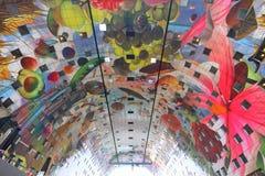 Groenten van de Markthal de moderne kleurrijke architectuur Stock Fotografie