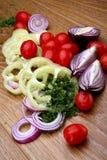 Groenten van kleuren de sappige en heldere groenten in het zuur Royalty-vrije Stock Fotografie