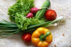 Groenten voor salade royalty-vrije stock foto's