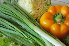 Groenten voor salade stock afbeelding